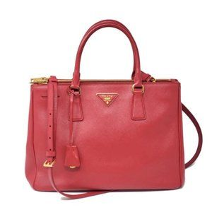Auth Prada Galleria Medium Saffiano Crossbody Bag